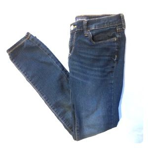 Old Navy Size 14 Super Skinny Blue Stretch Jeans